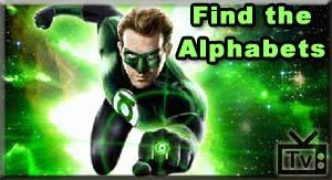 Green Lantern: Find The Alphabets