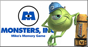 Monsters, Inc. Games – Mike's Memory Game